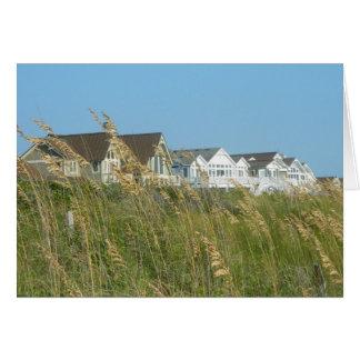 Beach Houses and Beach Grass Card