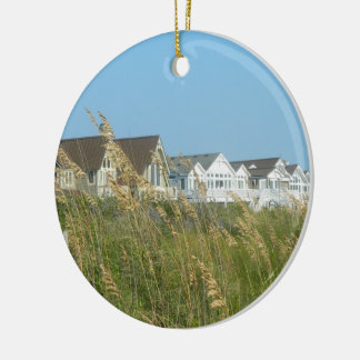 Beach Houses and Beach Grass Ceramic Ornament
