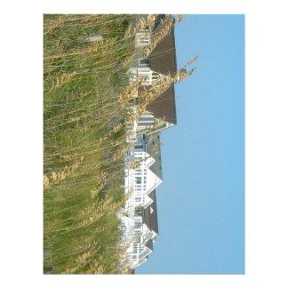 Beach Houses and Beach Grass Customized Letterhead