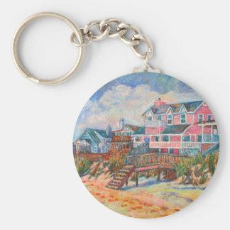 Beach Houses at Pawleys Island Keychain