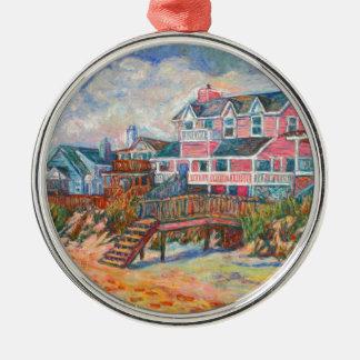 Beach Houses at Pawleys Island Metal Ornament