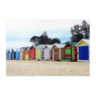 Beach Houses   Brighton Beach, Melbourne Acrylic Wall Art