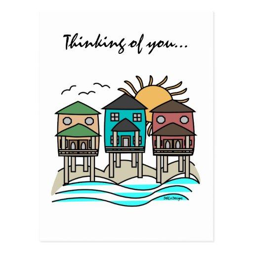Beach Houses Cards Postcard