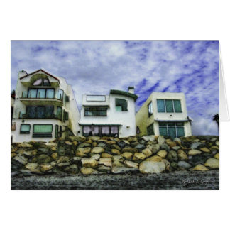 Beach Houses in Oceanside Stationery Note Card
