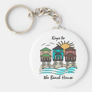 Beach Houses Keychain