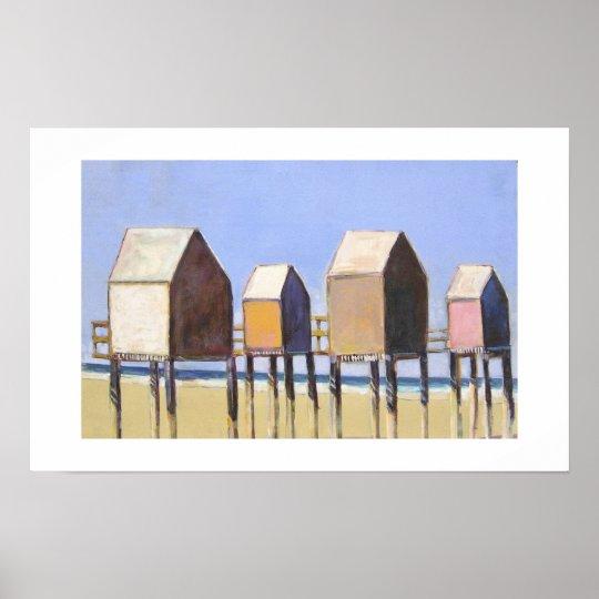 Beach Houses-Print Poster