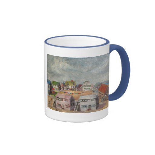 Beach Houses Ringer Coffee Mug