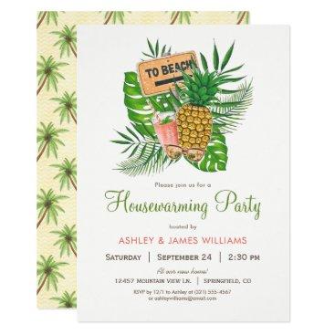 Beach Themed Beach Housewarming Party Invitation