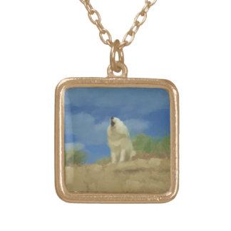 """Beach Howl:  Sammy SM Gold Finish Necklace"