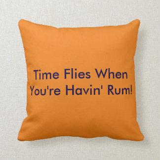 Beach Humor  - Time Flies When You're Haivin' Rum! Throw Pillow