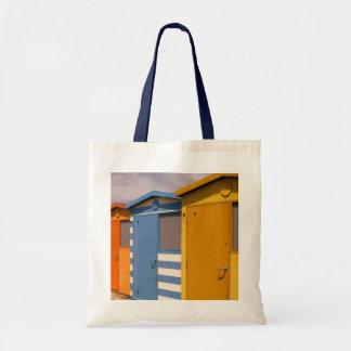 Beach-Hut Budget Tote Bag