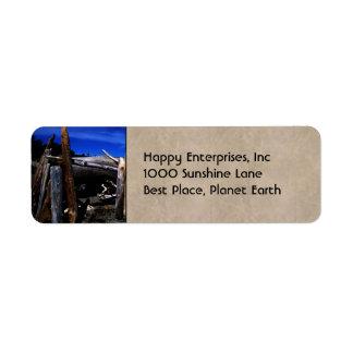 Beach Hut Label