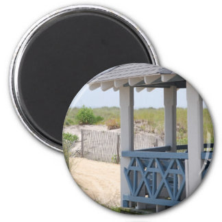 beach hut magnet
