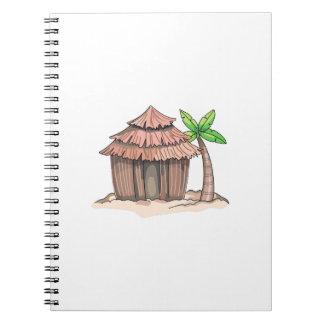 Beach Hut Spiral Note Book