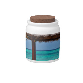 beach hut tropical paradise peace relax remote candy dishes