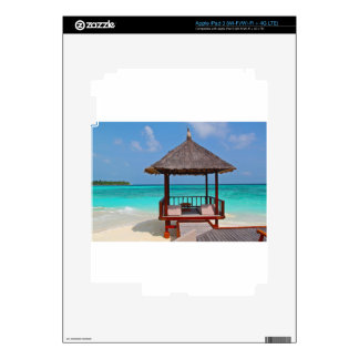 beach hut tropical paradise peace relax remote iPad 3 decals