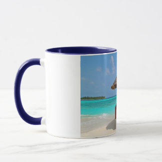 beach hut tropical paradise peace relax remote mug