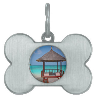 beach hut tropical paradise peace relax remote pet tag