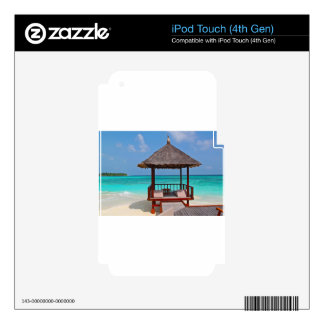 beach hut tropical paradise peace relax remote skin for iPod touch 4G