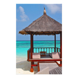 beach hut tropical paradise peace relax remote stationery