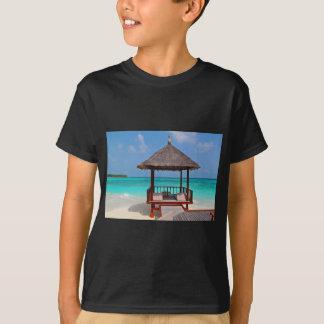 beach hut tropical paradise peace relax remote T-Shirt