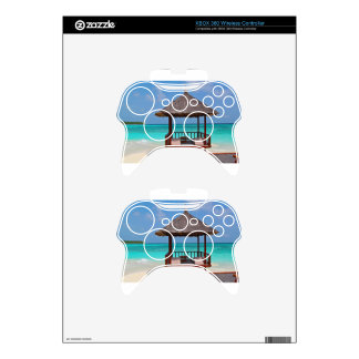 beach hut tropical paradise peace relax remote xbox 360 controller skin