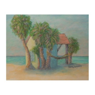 Beach Themed BEACH HUT Wood Wall Art