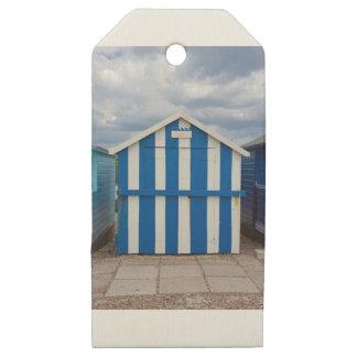 Beach Hut Wooden Gift Tags