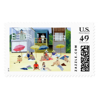 Beach Huts 1991 Postage Stamp
