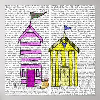 Beach Huts 3 Illustration Poster