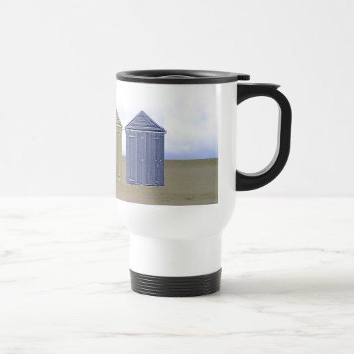 Beach Huts Art 15 Oz Stainless Steel Travel Mug