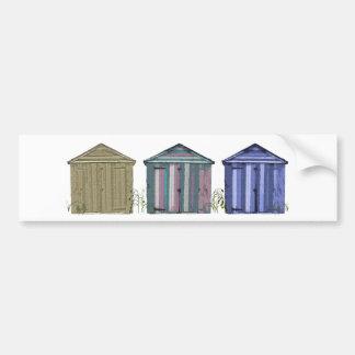 Beach Huts Art Bumper Sticker