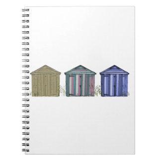 Beach Huts Art Notebook