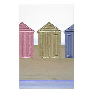 Beach Huts Art Stationery
