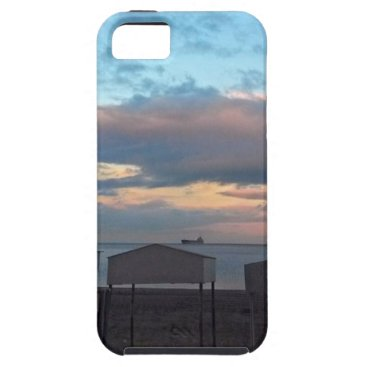 Beach Themed Beach Huts at Sunset in Gibraltar iPhone SE/5/5s Case
