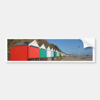 Beach huts bumper sticker