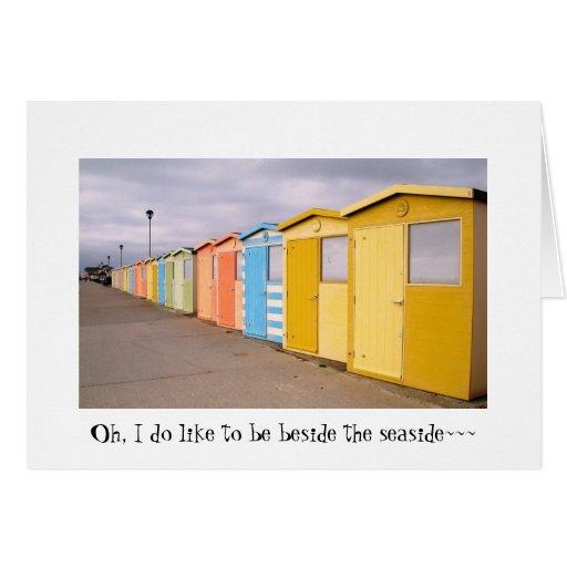 Beach Huts Card