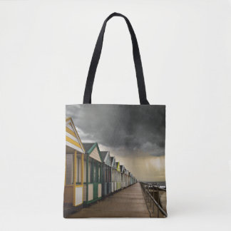 Beach Huts In A Summer Storm | Southwold Tote Bag