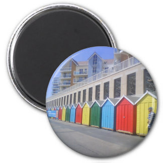 Beach Huts in Bournemouth Magnet