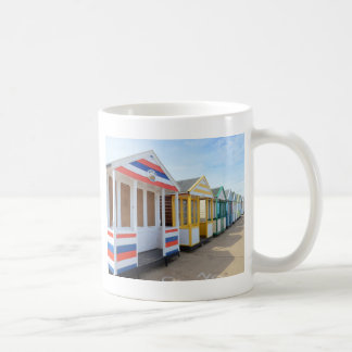 Beach Huts In Eastern England Coffee Mug