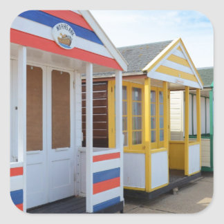 Beach Huts In Eastern England Square Sticker