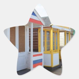 Beach Huts In Eastern England Star Sticker