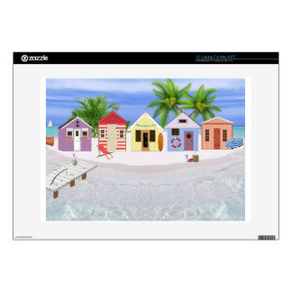 BEACH HUTS LAPTOP DECAL