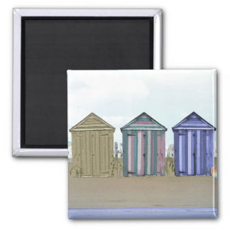 Beach huts magnet