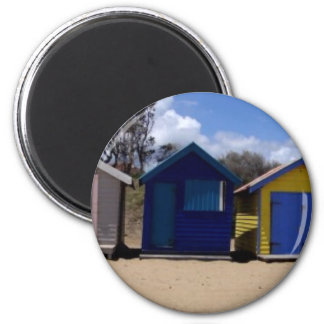 Beach Huts Melbourne 2 Magnet