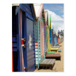Beach Huts Melbourne Side Post Cards
