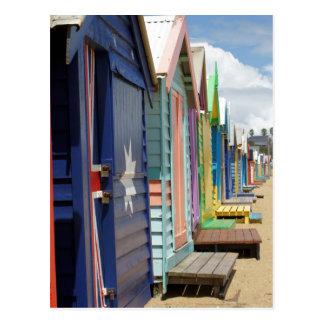 Beach Huts Melbourne Side Postcard