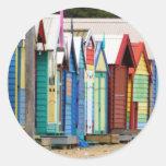 Beach Huts Melbourne Sticker