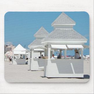 beach huts mouse pad