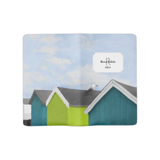 Beach Huts Large Moleskine Notebook Cover With Notebook